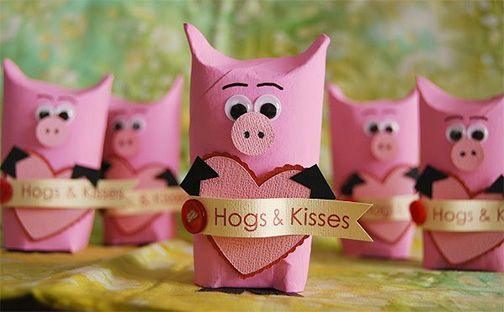 Hogs and Kisses Valentine Tutorial