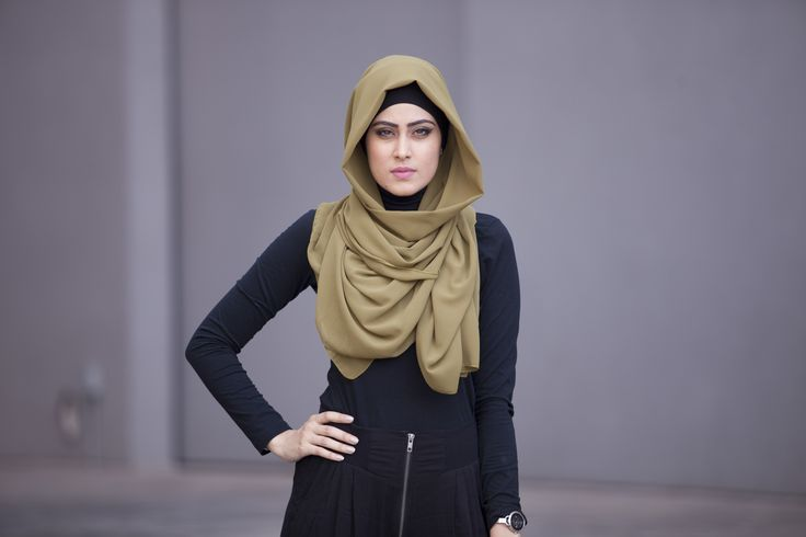 Verona-Collection.com #Georgette #Chiffon #Hijab #Olive #Verona #VeronaCollection #Modest #Fashion