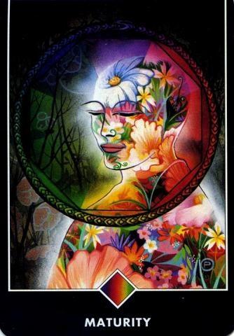 """06.29.14 #2  Ma Deva Padma, """"Maturity,"""" Osho Zen Tarot, 1995."""