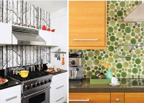 Kitchen Backsplash Vinyl Wallpaper 16 best kjøkken images on pinterest | photo wallpaper, kitchen