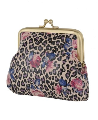 Leopard Rose Coin Purse -I have a wrist purse like this, LOVE IT!!