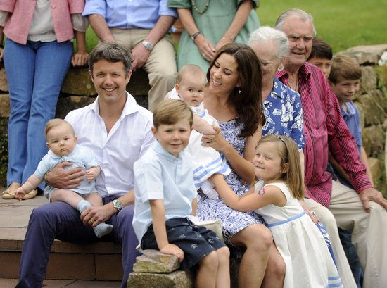 Happy Birthday, Princess Mary!: The Danish royals gathered for a photo call at Grasten Castle in Aug. 2011.