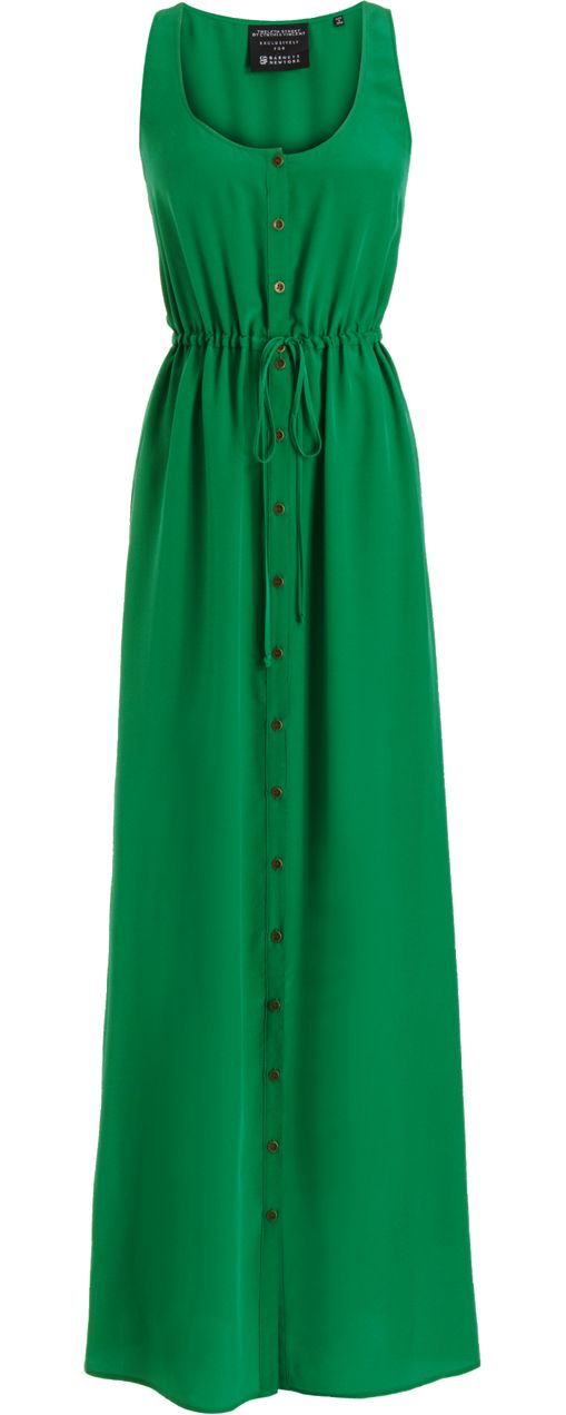 Twelfth Street by Cynthia Vincent Button Front Maxi Dress