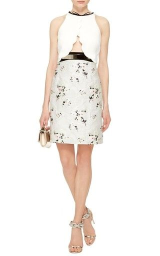 Cut Out Floral Sleeveless Dress by Giambattista Valli Now Available on Moda Operandi