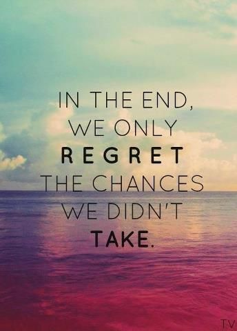 When you look back on your life, don't let it be filled with regrets. #quotes #inspiration #life