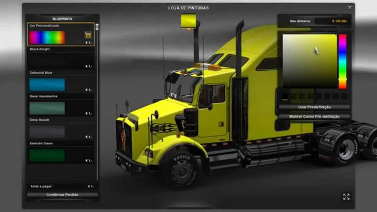 Euro Truck Simulator 2 - Mod Caminhão Kenworth T800 (Download)