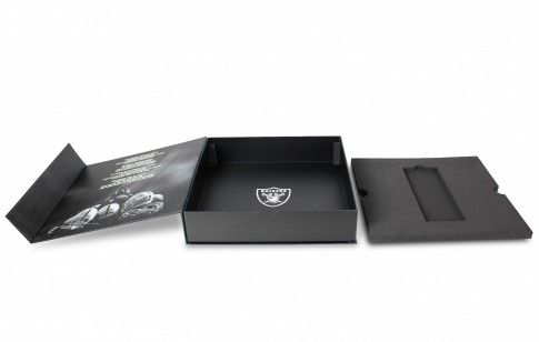 Here's another great example of a versatile season ticket box which we produced for the NFL American Football team, the Oakland Raiders.