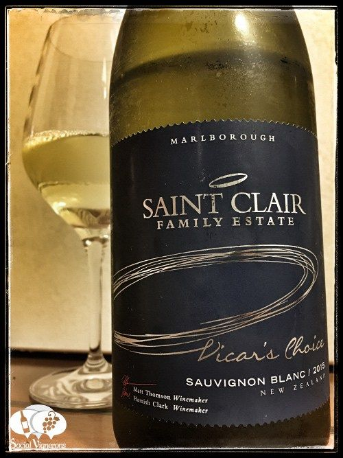 Score 86/100 Wine review, tasting notes, rating of 2015 Saint Clair Vicar's Choice Sauv Blanc. Description of aroma, palate, flavors. Join the experience :)