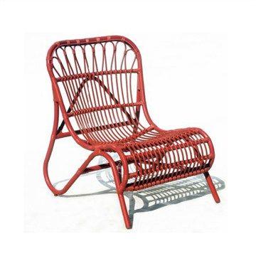 Cruz Aluminum Frame Stackable Chair - Red