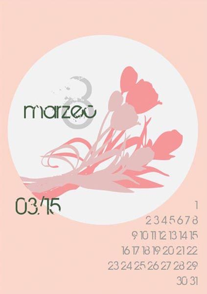 Here's a free printable 2015 calendar for all of you who loves flowers and nature. You can download it from: http://www.kaja.lebork.pl/KAJA-Kalendarz-2015.html and print it for you or your friends! #kalendarz2015 #marzec2015 #dzienkobiet #kwiaty