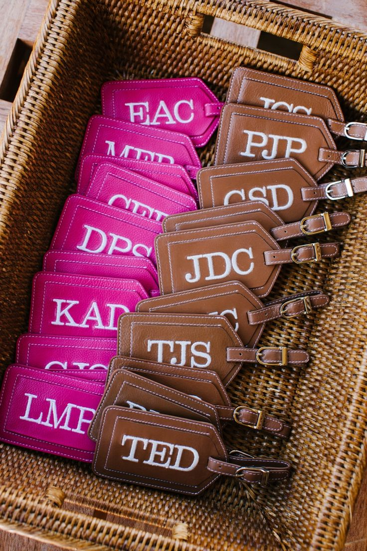 Great bridal party gift idea- custom luggage tags!