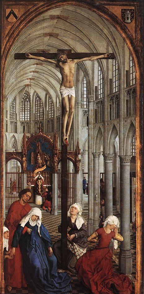 Rogier van der WEYDEN. Seven Sacraments (central panel) 1445-50 Oil on oak panel, 119 x 63 cm Koninklijk Museum voor Schone Kunsten, Antwerp