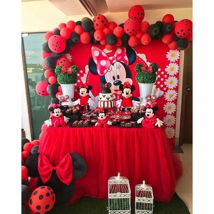 ¡La novia del ratón más famoso, Minnie, es un tema encantador! 💕 #fest …   – Temas Festa Infantil Meninas
