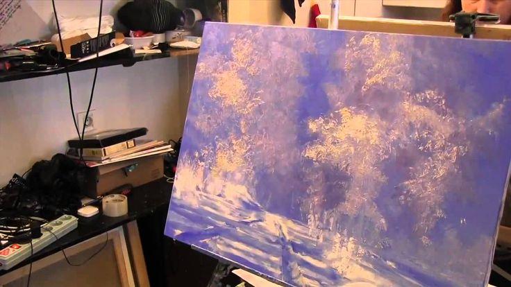 Игорь Сахаров, зимний пейзаж, уроки живописи для взрослых