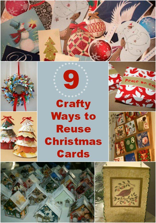 What do you do with old holiday cards? Turn them into something beautiful and functional with these 9 crafty ways to reuse Christmas cards!