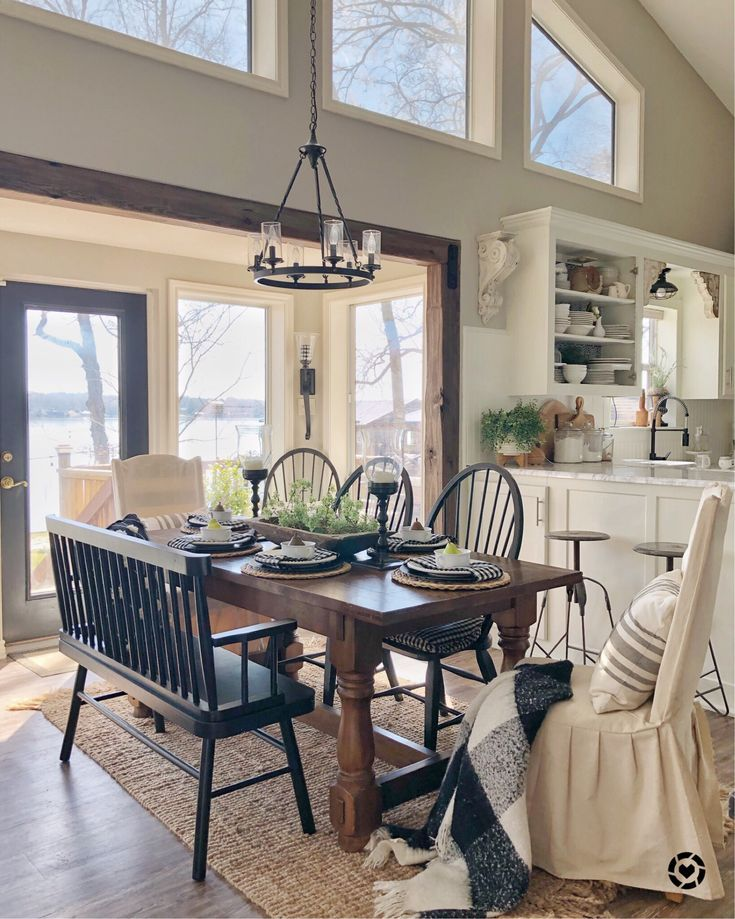 Simple Modern Farmhouse Dining Room Ideas Dining Farmhouse Ideas Modern Farmhouse Dining Room Modern Farmhouse Dining Farmhouse Dining Rooms Decor