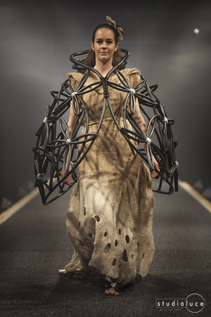 Runway Fashion Photography  Photographer: Studio Luce  Location: Fieldays Wearable Arts Chloe King - Felt Like Flowers - Class Room Couture- First Place 2014 Wearable Art Awards