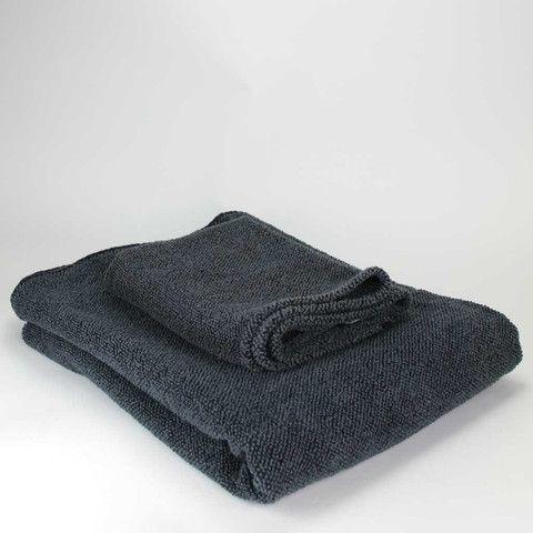 Linen Terry Towel - black graphite