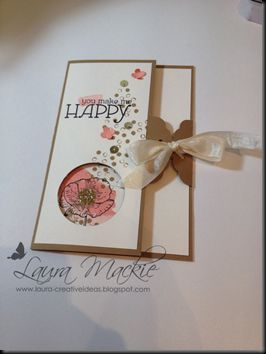 Ribbon is threaded through the new Stampin' Up! Scallop Tag punch, gorgeous!