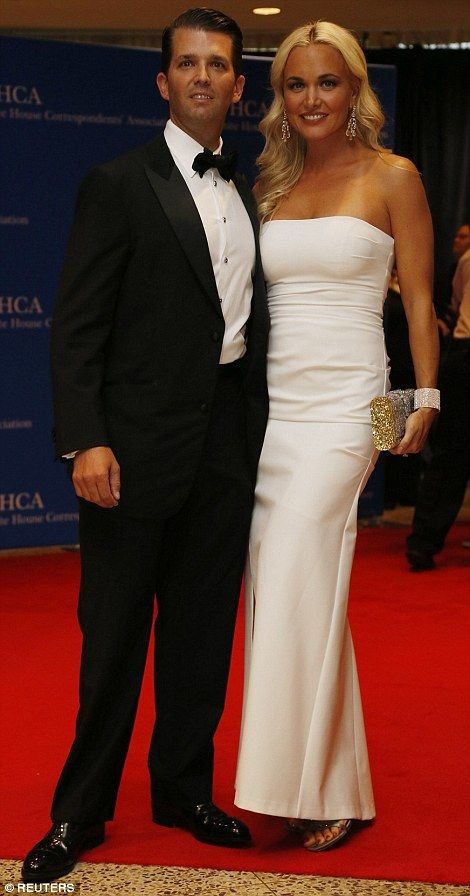 Donald Trump Jr and his wife Vanessa)...                                                                                                                                                                                 More