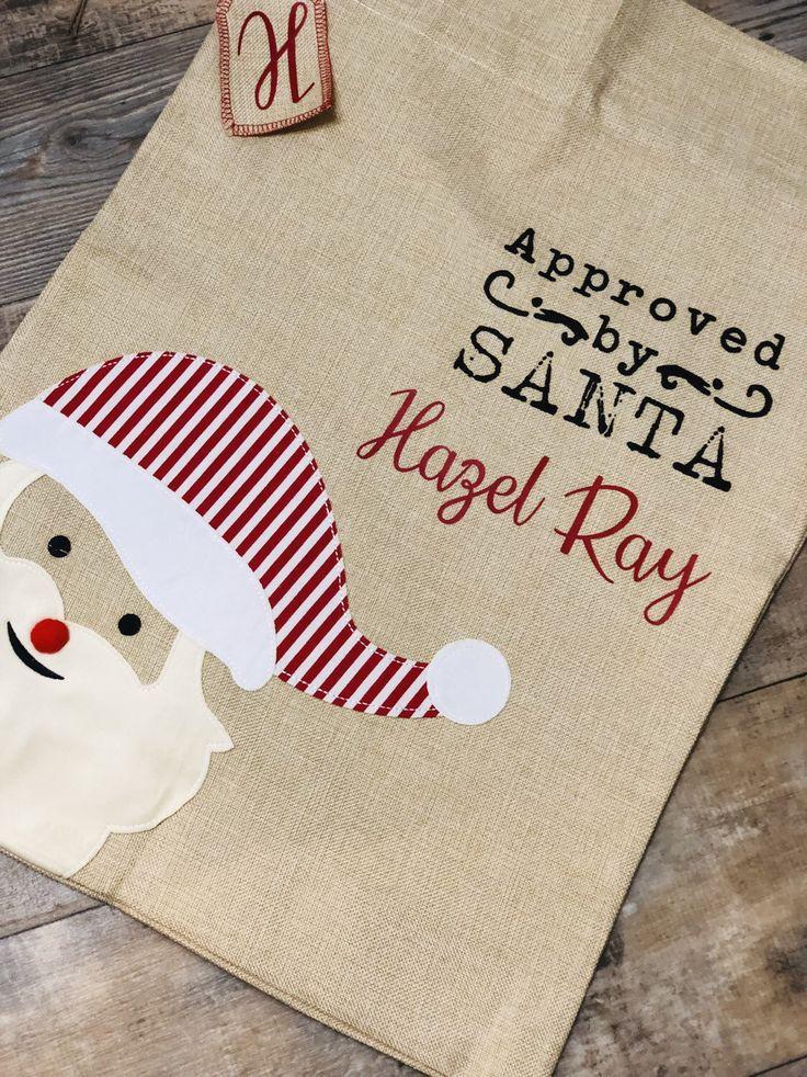 Burlap santa bags, burlap reindeer sack, personalized burlap santa bags, santa sacks, Christmas gifts for kids, Christmas decoration