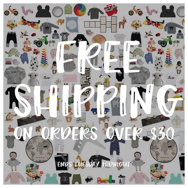 Wet weather here it's the perfect time for a bit of retail therapy and What's better than Free shipping? . FREE shipping on all orders over $30 until midnight tomorrow and we've made it super easy with no code needed (Aus orders only ) Afterpay and ZipPay available www.minimacko.com.au