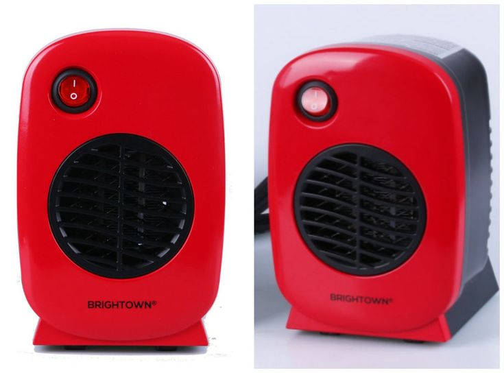 Electric Portable Space Heater Mini Personal Desktop Tabletop Ceramic 250W Red  #CeramicSpaceHeaters