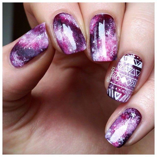 lieve91 /lieve91/ Galaxy nails with...Instagram photo | Websta (Webstagram)