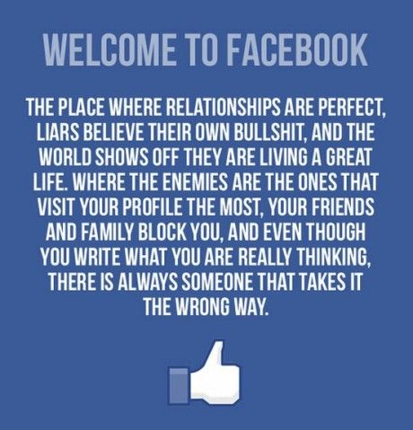 The Plain Truth About FacebookFunny Image, Laugh, Real Life, Quotes, Social Media, Facebook, So True, Humor, True Stories