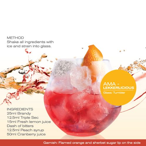 Ama-lekkerlicious - Shake all ingredients with ice and strain into glass.