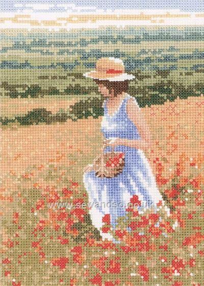 Poppy Girl Cross Stitch Kit