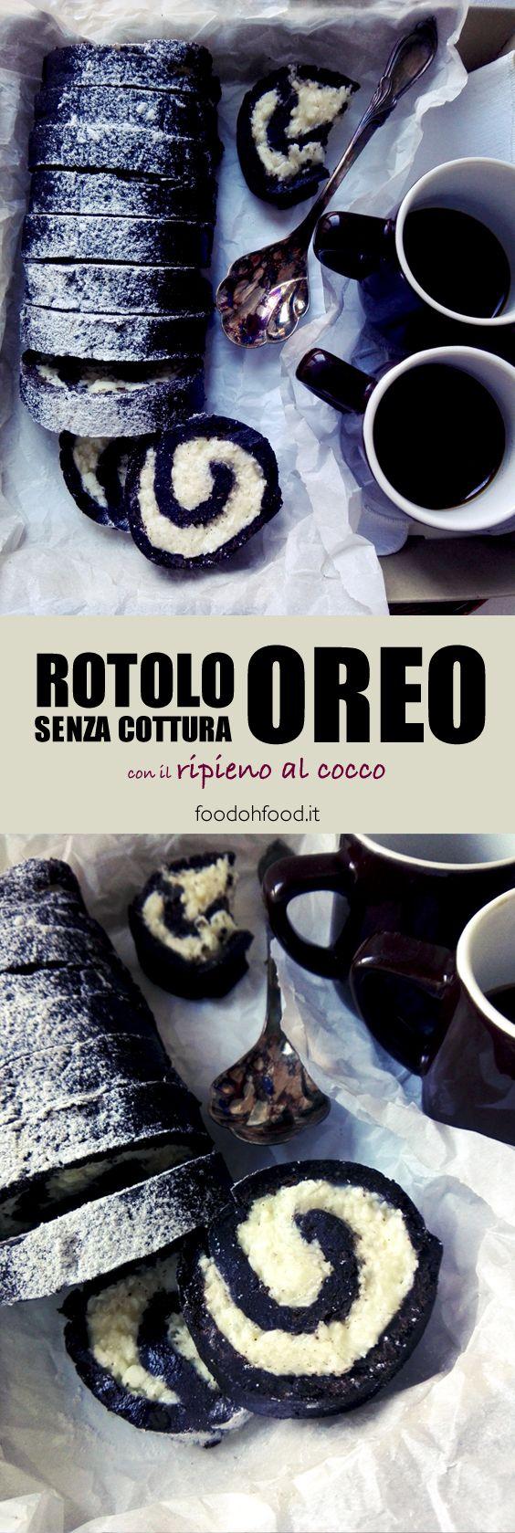 Un modo sfizioso per creare un rotolo al cacao con il ripieno al cocco usando i biscotti Oreo. Questo goloso rotolo è un dolce freddo, buonissimo, facile e senza cottura!