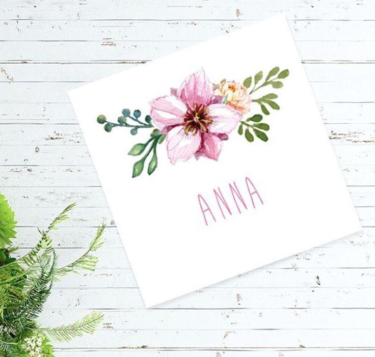 Simpel, maar hoe leuk is dit geboortekaartje?! Wij houden van een boho stijl! #bloem #boho #geboortekaartje #meisje
