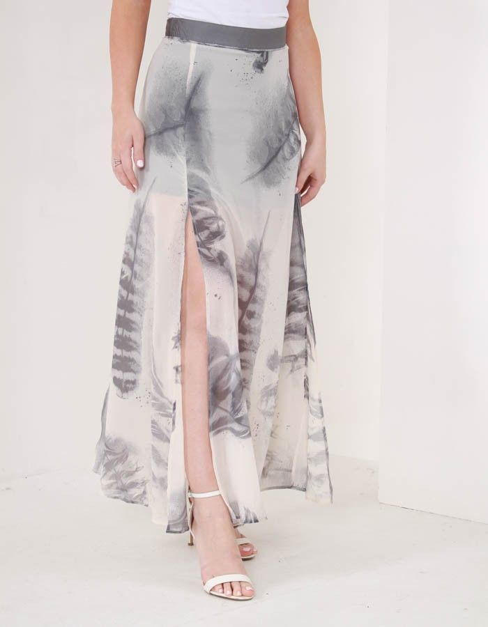 Religion Influence Maxi Skirt Grey | Accent Clothing