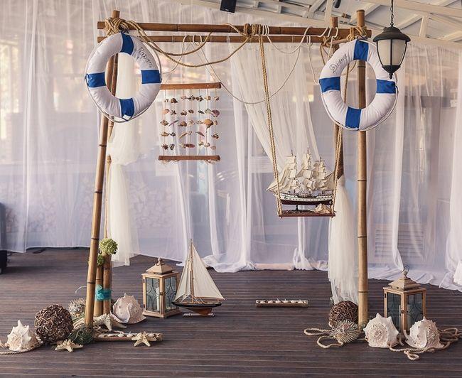 Nautical Decor For The Wedding Reception