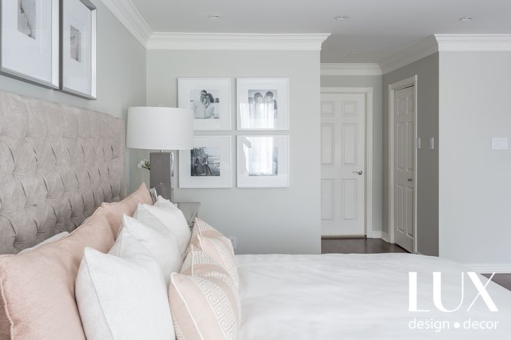Decor in a beautiful transitional LUX style. Light dark contrast, pops of color, light and airy! Designed by LUX decor, photographed by Angela Auclair