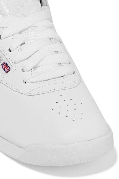 Reebok - Freestyle Leather High-top Sneakers - White - US7.5