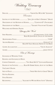 catholic wedding ceremony program template | Wedding ideas ...