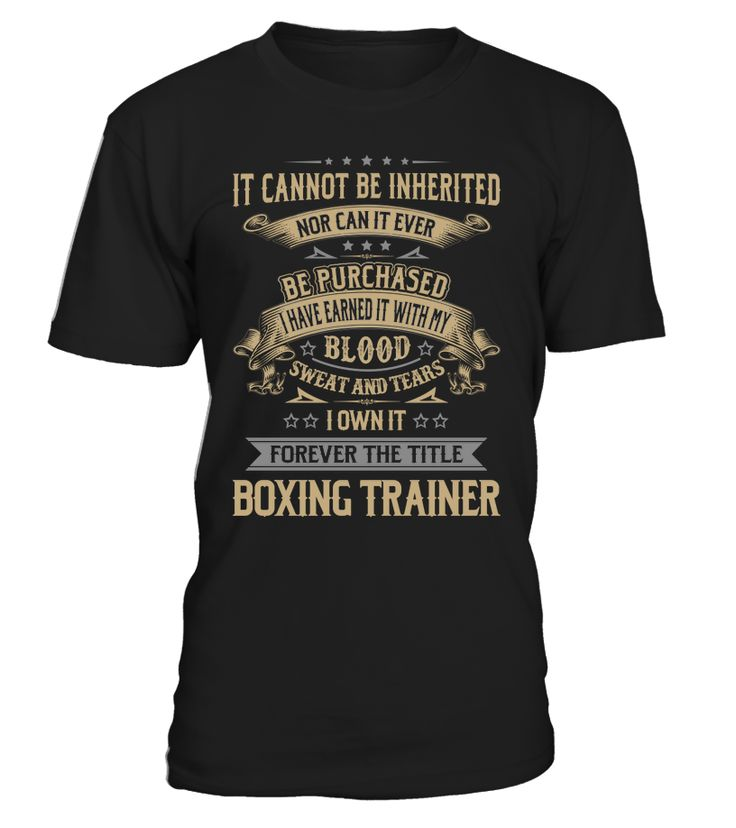 Boxing Trainer - I Own It Forever #BoxingTrainer