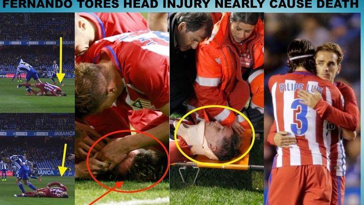 Fernando Torres Horrible Head Injury - Deportivo La Coruna vs Atletico M...