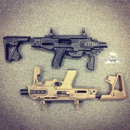 CAA Roni Kits for Glocks and P226 Pistols now available at AirSplat!   CAA RONI P226 Gas Pistol Carbine Kit Blk $84.99 http://www.airsplat.com/Itemdesc.asp?ic=GP-CAD-SK07-BK  CAA RONI G18C Gas Pistol Carbine Kit DE $84.99 http://www.airsplat.com/Itemdesc.asp?ic=GP-CAD-SK01-DE