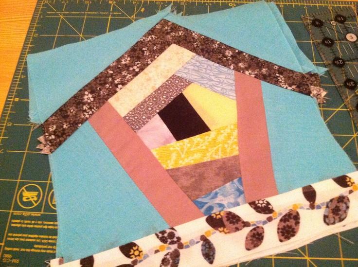 Birdhouse quilt blocks. See mandckonrad.blogspot.com for how-to!