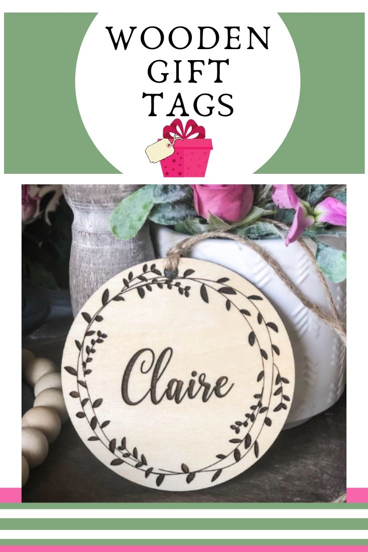 Fl Name Tag Wooden Custom Engraved