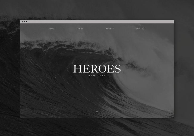 HEROES : Web Design / UI / Mobile – heroesmodels.com – Aled S Pritchard : Creative Director + Graphic / Brand / Digital Designer