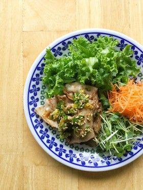 豚バラに、甘酢ネギ胡麻だれ。 by ラビー [クックパッド] 簡単おいしいみんなのレシピが265万品