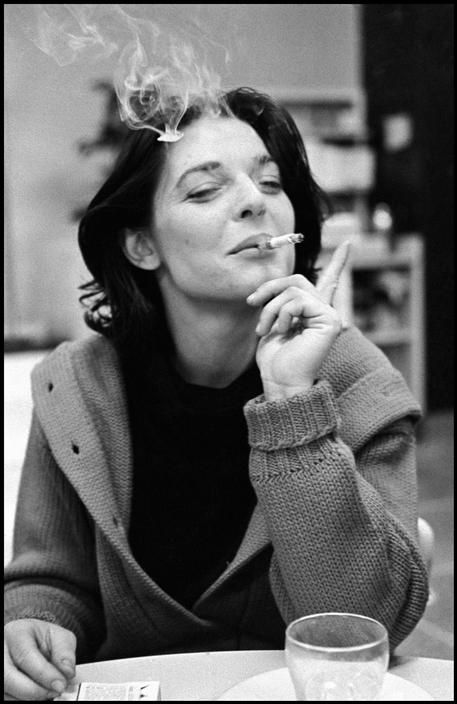American actress Anne Bancroft smoking, photographed by Dennis Stock, 1960