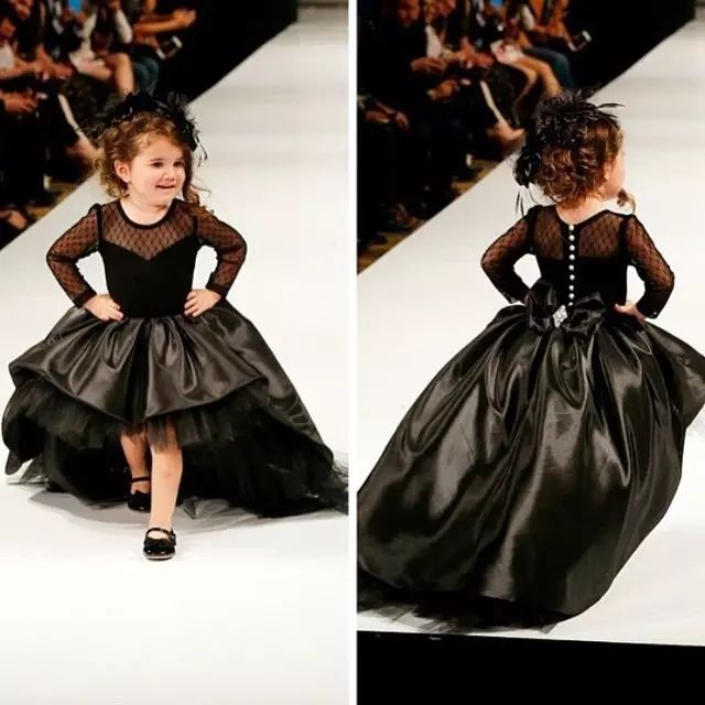 Black Taffeta Hi Lo Little Girls Pageant Dresses Long Sleeve Jewel Neck Kids Pageant Ball Gowns Fashion Cupcake Princess Ball Dress Girl Purple Dresses For Girls Red Flower Girl Dress From Ilovewedding, $92.47| Dhgate.Com