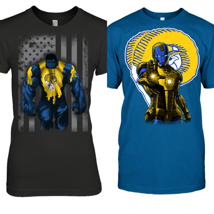 His and hers LA Rams shirts