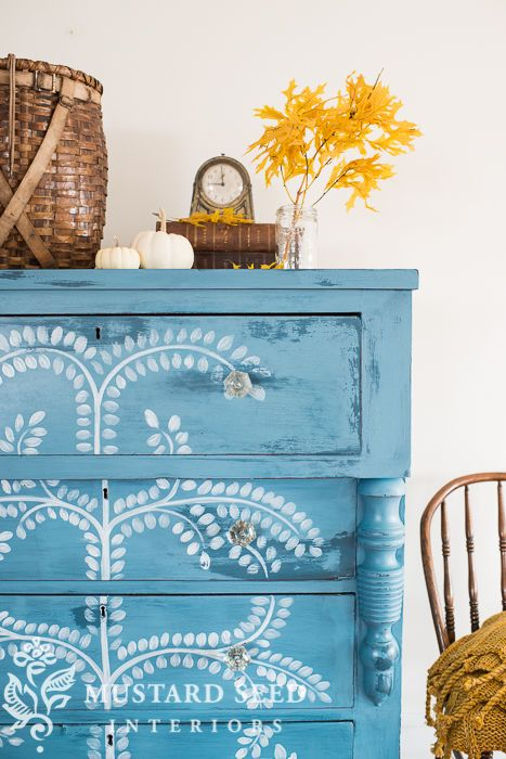 hand painted milk paint dresser | miss mustard seed