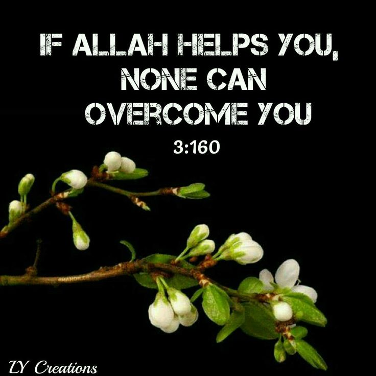 If Allah helps you none can overcome you ...3:160